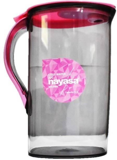 NAYASA 2100 L Water SAPARA GLASS PLASTIC WATER JUG SET OF 1 PINK Jug