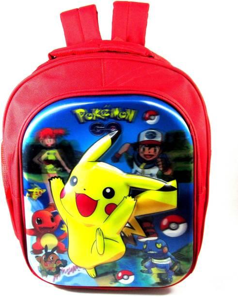 ehuntz Pokemon 5D embossed school Bag (6 to 10 years) (EH1029) Waterproof School Bag