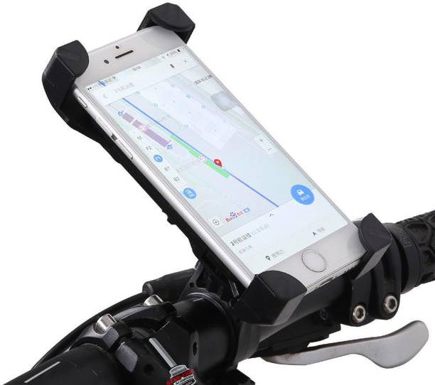 AlexVyan Black Red Yellow( No Color Choice) 360° Degree Rotate Adjustable Universal Bike Motorcycle Cycle Mount Holder for Phone Mobile Bicycle Handlebar Mobile Phone Holder Cradle Clamp with 360 Rotation for 3.5 to 6.5 inch Apple iPhone Samsung Sony Moto LG HTC Vivo Oppo MI Honor Redmi Lenovo Micromax Motorola Nokia Xiaomi Jio All type of Android Smartphone GPS Other Bicycle Phone Holder