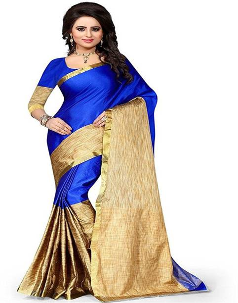 7217a1f9924027 Plain Sarees Online - Buy Plain Simple Sarees With Designer Blouse ...