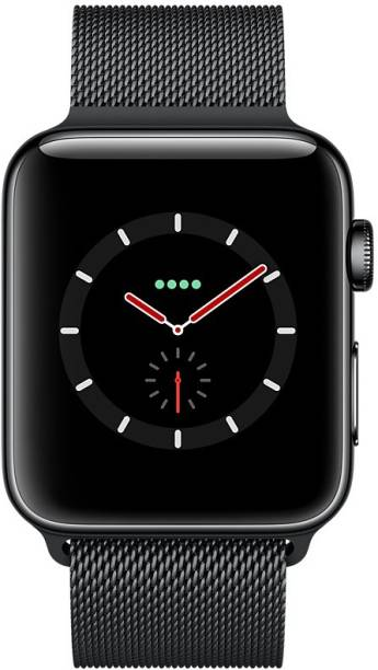 APPLE Watch Series 3 GPS + Cellular - 38 mm Space Black Stainless Steel Case with Milanese Loop
