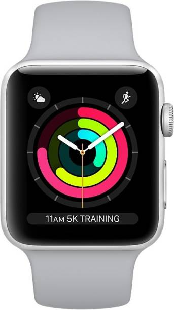 APPLE Watch Series 3 GPS + Cellular - 38 mm Silver Aluminium Case with Fog Sport Band