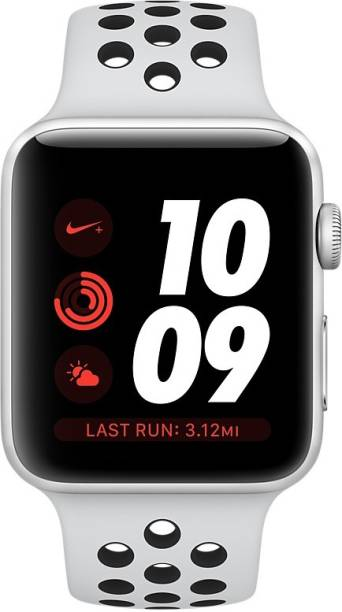 APPLE Watch Nike+ GPS + Cellular - 42 mm Silver Aluminium Case with Nike Sport Band