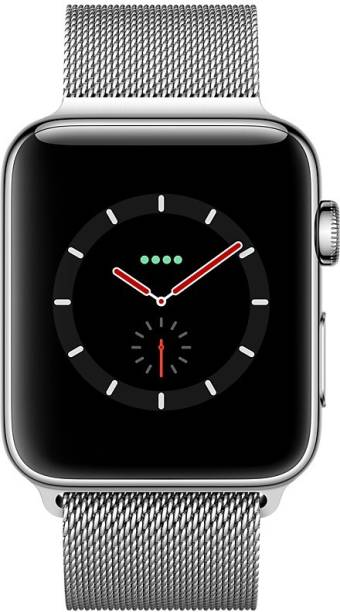 APPLE Watch Series 3 GPS + Cellular - 38 mm Stainless Steel Case with Milanese Loop