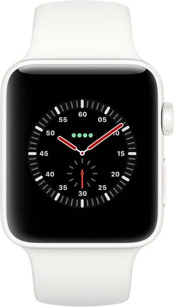 APPLE Watch Edition Series 3 GPS + Cellular- 42 mm White Ceramic Case with Sport Band