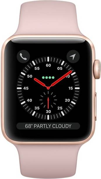 APPLE Watch Series 3 GPS + Cellular - 42 mm Gold Aluminium Case with Sport Band