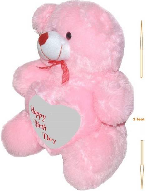 KIDZ Zone 2 Feet Sitting Soft Cute Teddy Bear For Happy Birthday Gift  - 60 cm