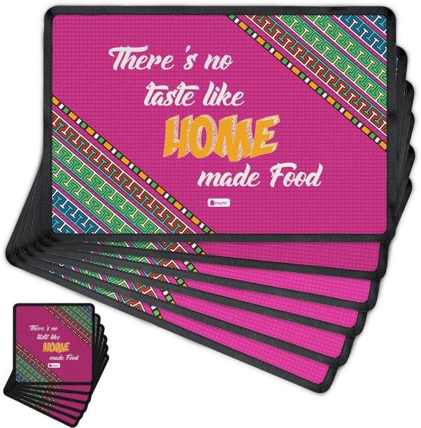 indigifts rectangular pack of 6 table placemat