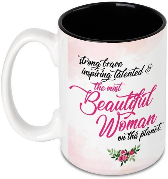 HOT MUGGS Most Beautiful Woman on Planet Ceramic Coffee Mug