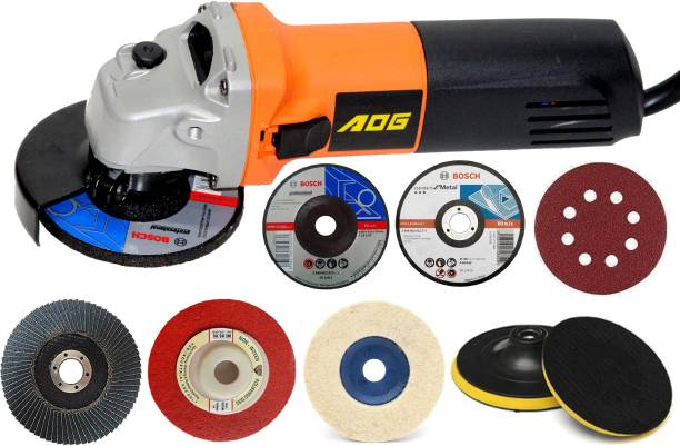 Digital Craft Aog Heavy Duty 750W 11000Rpm 100Mm Angle Grinder with FreeGrinding and Cutting Wheel Angle Grinder