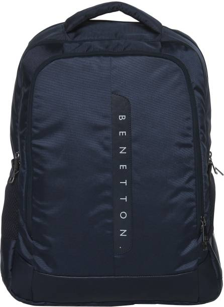 United Colors Of Benetton Laptop Backpack Navy Blue 30 L