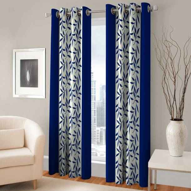 Optimistic Home Furnishing 210 Cm 7 Ft Polyester Door Curtain Pack Of 2