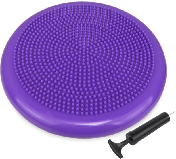IRIS Inflated Stability Purple Balance Mat with Hand Pump Balance Disc Fitness Balance Board