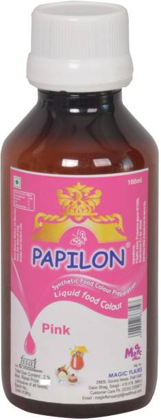 PAPILON CONCENTRATED FOOD COLOUR PREPARATION PINK - 100ML Pink