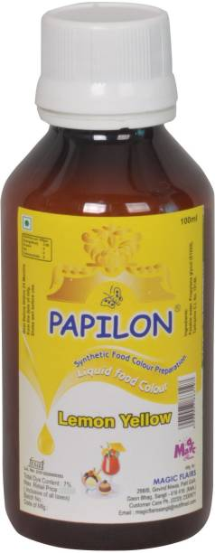 PAPILON CONCENTRATED FOOD COLOUR PREPARATION YELLOW- 100ML Yellow