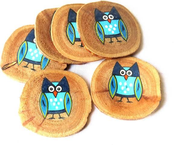 Scrapshala Round Wood Coaster Set