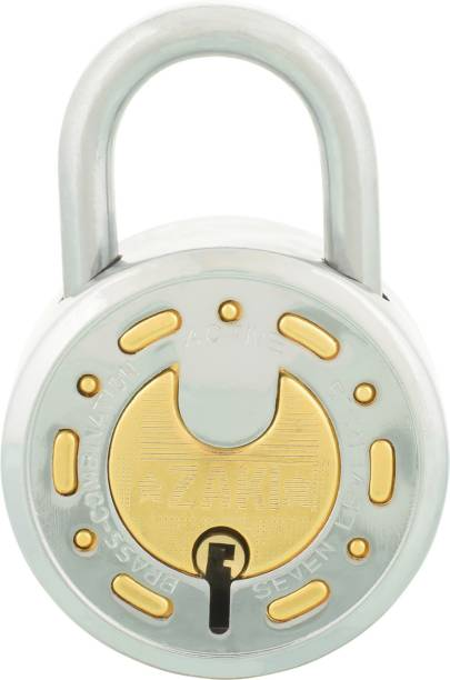 Standard Choice 8 Levers Brass Combination Lock (Silver) Padlock