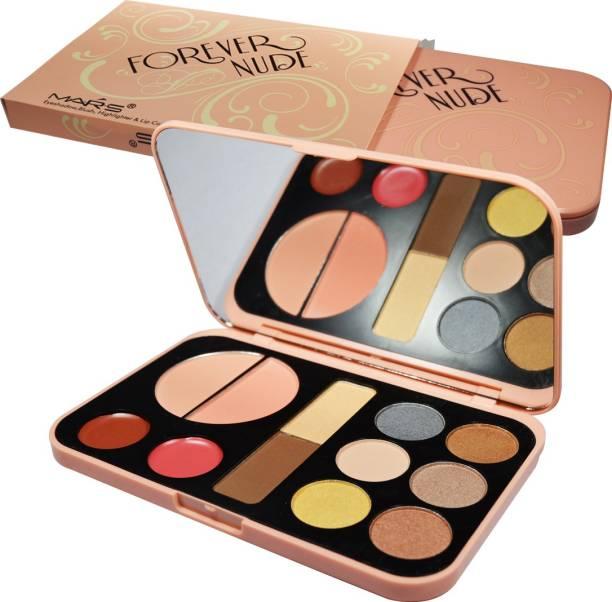 MARS Forever Nude Makeup Kit Including Eyeshadow, Blush, Highlighter & Lip Color Palette