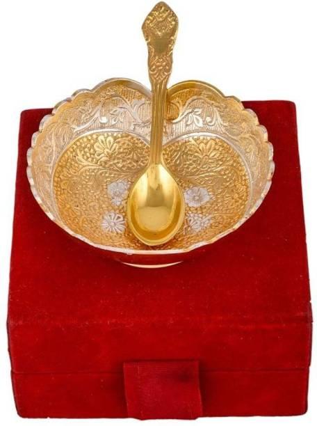 Being Nawab Two Shaded Elegance Bowl, Spoon Serving Set