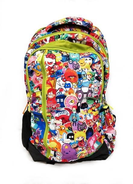 BEGO Multicolored Cartoon Characters Shoulder Bags for All Waterproof School Bag