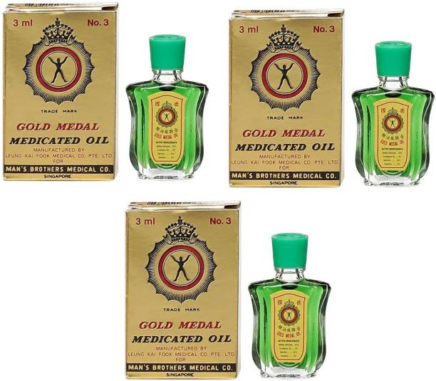 Gold Medal Medicated Oil # Imported [ Pack of 3 ] Liquid