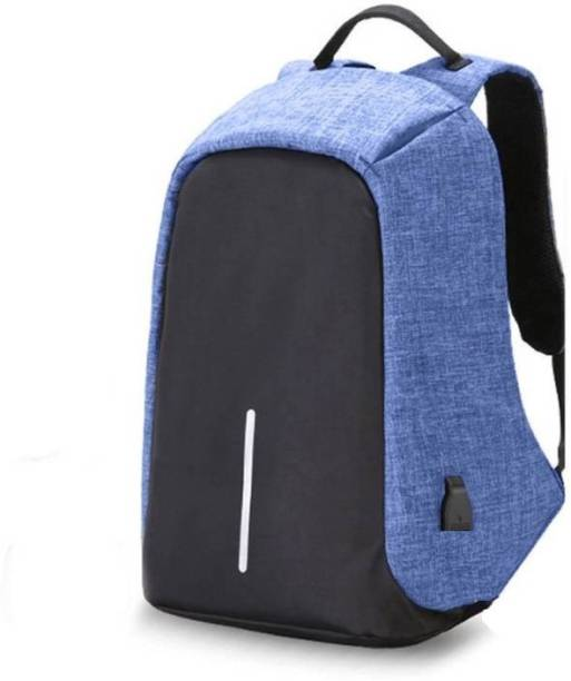Zureni Waterproof Business Anti Theft Laptop Backpack with USB Charging  Port Anti theft (Blue) 088471ca469ee