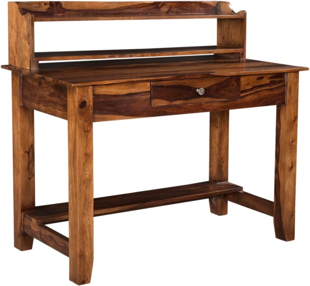Beautiful Saffron Art And Craft Solid Wood Study Table