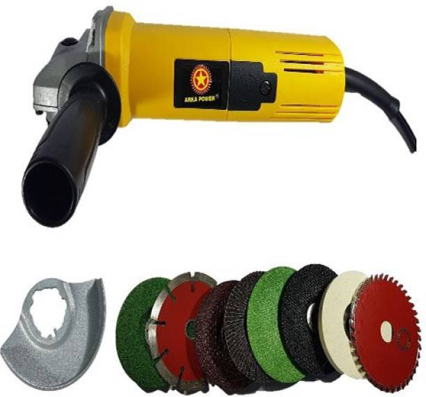 Inditrust 850W angle grinder with 8 high quality wheels for cutting grinding buffing polishing application Angle Grinder