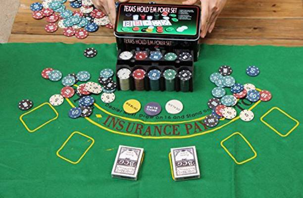 HOUSE OF QUIRK Texas Hold'Em Poker Set Casino Game - 200 Poker Chip