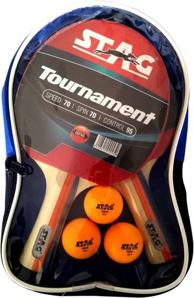 STAG TOURNAMENT PLAYSET WITH 2 BATS , 3 SEAM BALLS Table Tennis Kit