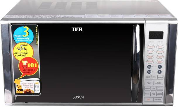 IFB 30 L Metallic silver Convection Microwave Oven
