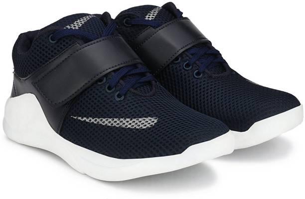 Shoe Island Por Revo X Premium Quality Trending Sporty Mesh Dark Navy Blue