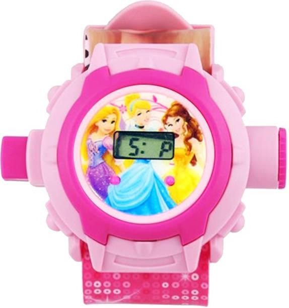 on sale 79cf4 9b031 VcareU 24 Slides Projector Watch - For Boys  Girls