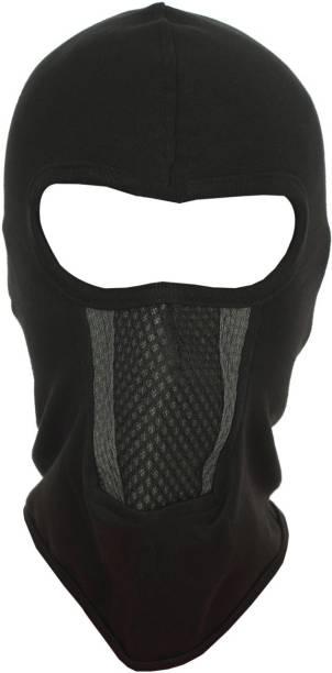 H-Store Black Helmet Skull Cap for Men & Women