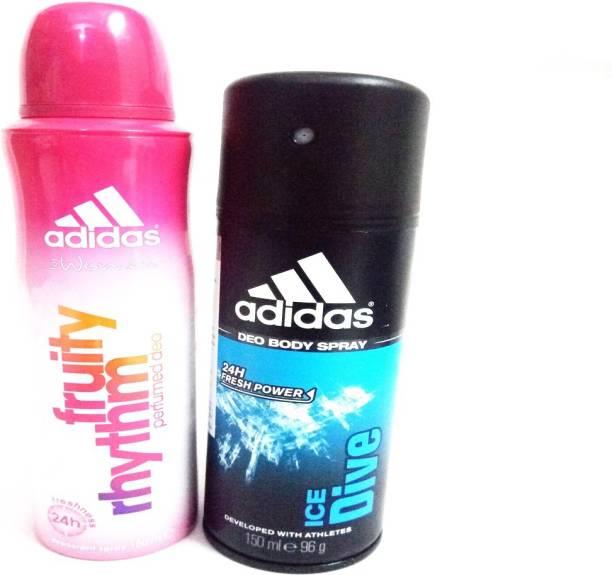 ADIDAS FRUITY RHYTHM AND ICE DIVE Deodorant Spray  -  For Men & Women