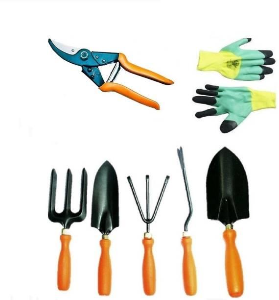 TRUPHE Garden Tool Set With Cutter And Gloves (German Style Cutter) Garden Tool Kit