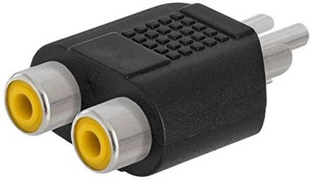 TECHON  TV-out Cable RCA 1 Male to 2 RCA Female Audio Video Splitter Adapter