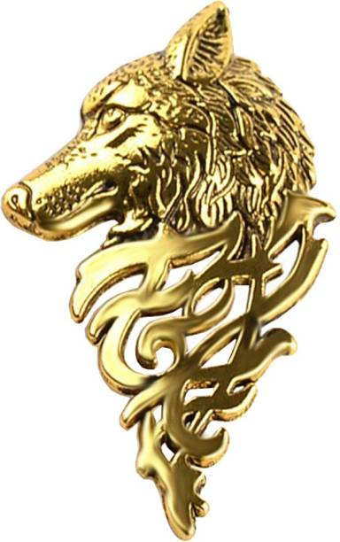 Sullery Vintage Personalized Wolf Head Brooch Animal Shape Suit Collar Pin Buckle Broche Wolfhead Brooches Pins For Men Gift Brooch