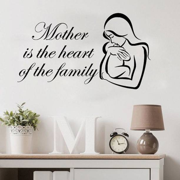 162250cc46 Fantaboy Mother Is The Heart Family Bedroom Wall Decal Size (60x42) cm