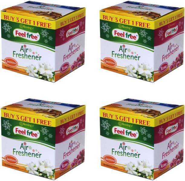 FEEL FREE AIR FRESHENER 3+1 BOX WITH 4 PREMIUM FRAGRANCE Blocks