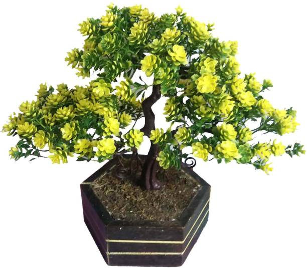 Kaykon Decorative Artificial Bonsai Plant Wild Tree For Indoor Decoration With Wooden Pot Natural Looking