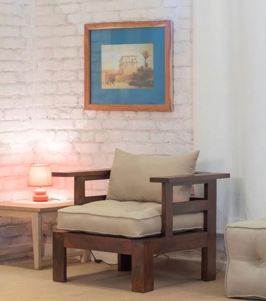 The Jaipur Living BONNEVILLE Mango Solid Wood Living Room Chair & Living Room Chairs Online at Best Prices on Flipkart