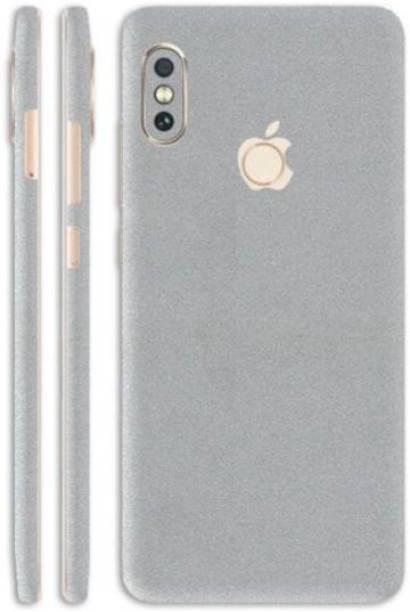 SLICKWRAPS Skin-1474 - Converter Style Silver Glitter Skin For Back Of Mi Redmi Note