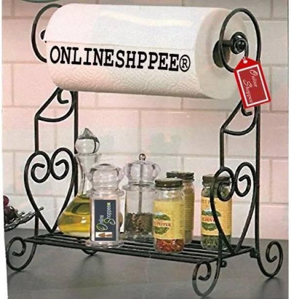 Onlineshoppee Cum Kitchen Rack Iron Toilet Paper Holder