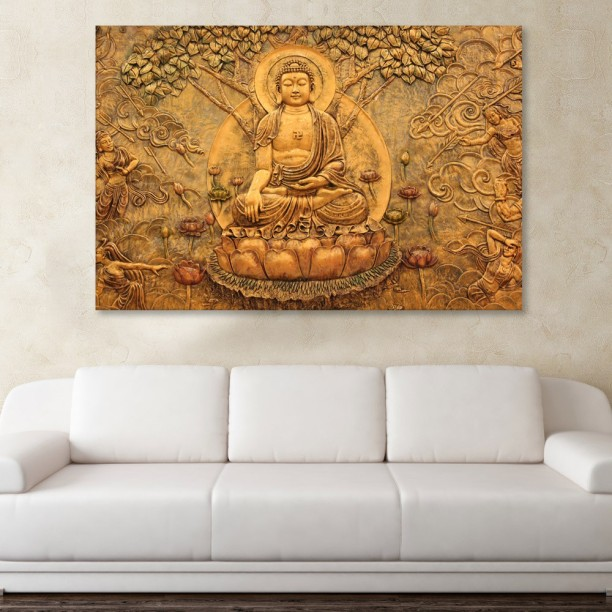 Marvelous Inephos Canvas Painting   Beautiful Buddha Religious Art Wall Painting For  Living Room, Bedroom,