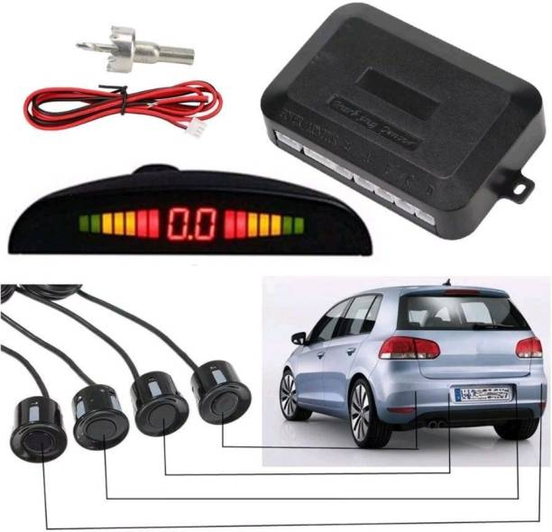 TREST NASE001CPS Universal Car Reverse Parking 4 Sensors Security Led Display With Buzzer & Display BLACK Parking Sensor