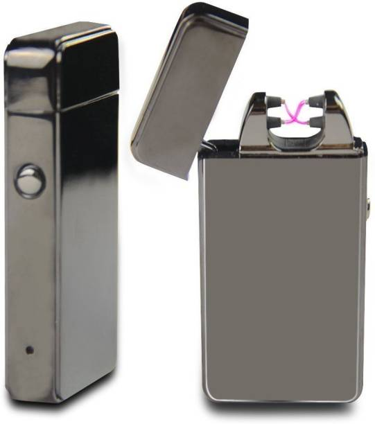 GREYFIRE Atomic USB Electronic Lighter Dual Arc Plasma Rechargeable Flameless Windproof Atomic Lighter Black Cigarette Lighter