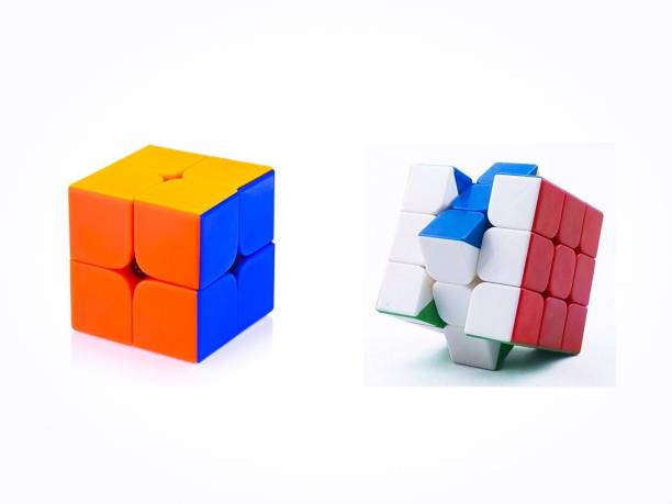D ETERNAL cube combo set of 2 rubix cube 2X2 3x3 rubic cube high speed stickerless magic puzzle rubic cube brainstorming game toy