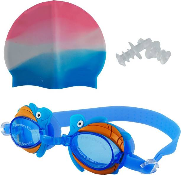6a31d58244f Wishkey Swimming UV Protection And Anti Fog Optic Quality Water Tight and  Adjustable Comfortable Fit Goggle