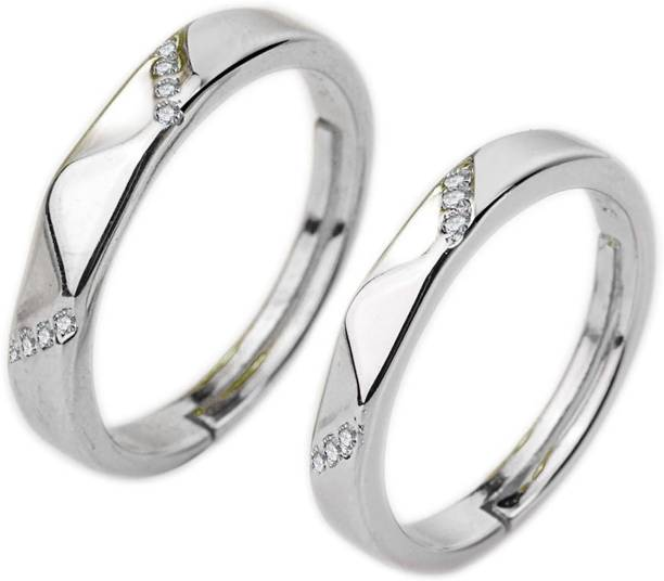 99092660c5 osw jewel Three Stone Promise rings for couples Engagement Wedding Rings  Alloy Ring
